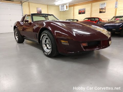 1980 Dark Claret Corvette For Sale Video