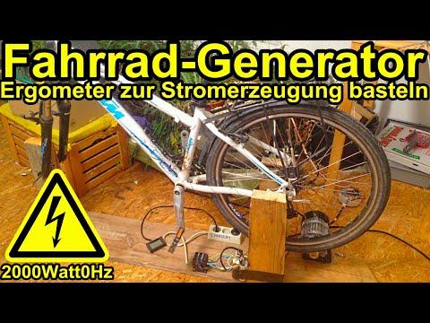Selbst gebauter Fahrrad-Generator