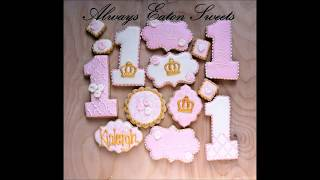 Baby Girl First Birthday Cookies