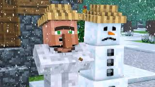 snowman & villager life song ( nether reaches ) minecraft animations