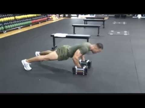 Dumbbell Push Up with  Row