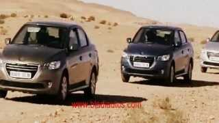 preview picture of video 'La nouvelle Peugeot 301 mise à l'épreuve à Ghardaïa (www.bladiautos.com)'