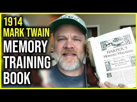 106 Yr Old Memory Training Book by Mark Twain Memorizing ...