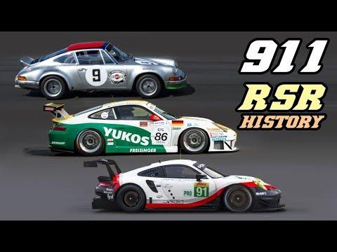PORSCHE 911 RSR history 1973-2019 (911, 964, 993, 996, 997, 991)