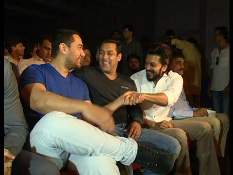 CHECKOUT Salman Khan, Aamir Khan, Farhan Akhtar, Riteish Deshmukh together UNSEEN RARE VIDEO.