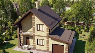 Проект дома 122-C, Площадь дома: 122 м2, Размер дома:  11,2x9,5 м