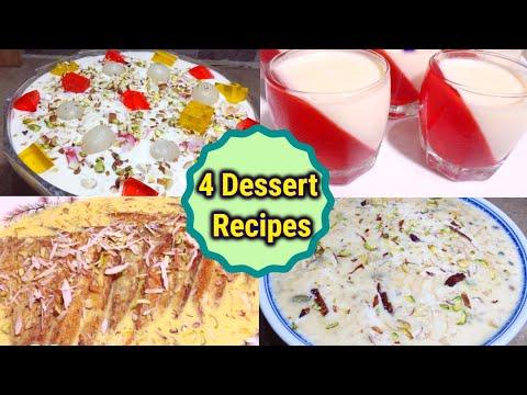 4 Easy Dessert Recipe_Best Dessert Recipes For Dawat