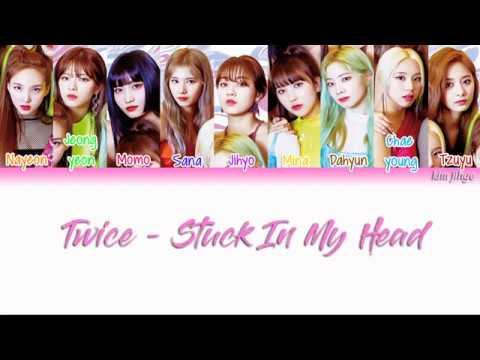 Twice 트와이스 Stuck In My Head Lyrics Color Coded Han Rom Eng
