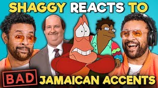 Shaggy Reacts To BAD Jamaican Accents In TV And Movies (The Office, The Little Mermaid, Futurama)
