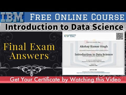 IBM Final Exam Answers   Introduction to Data Science   Free Online ...