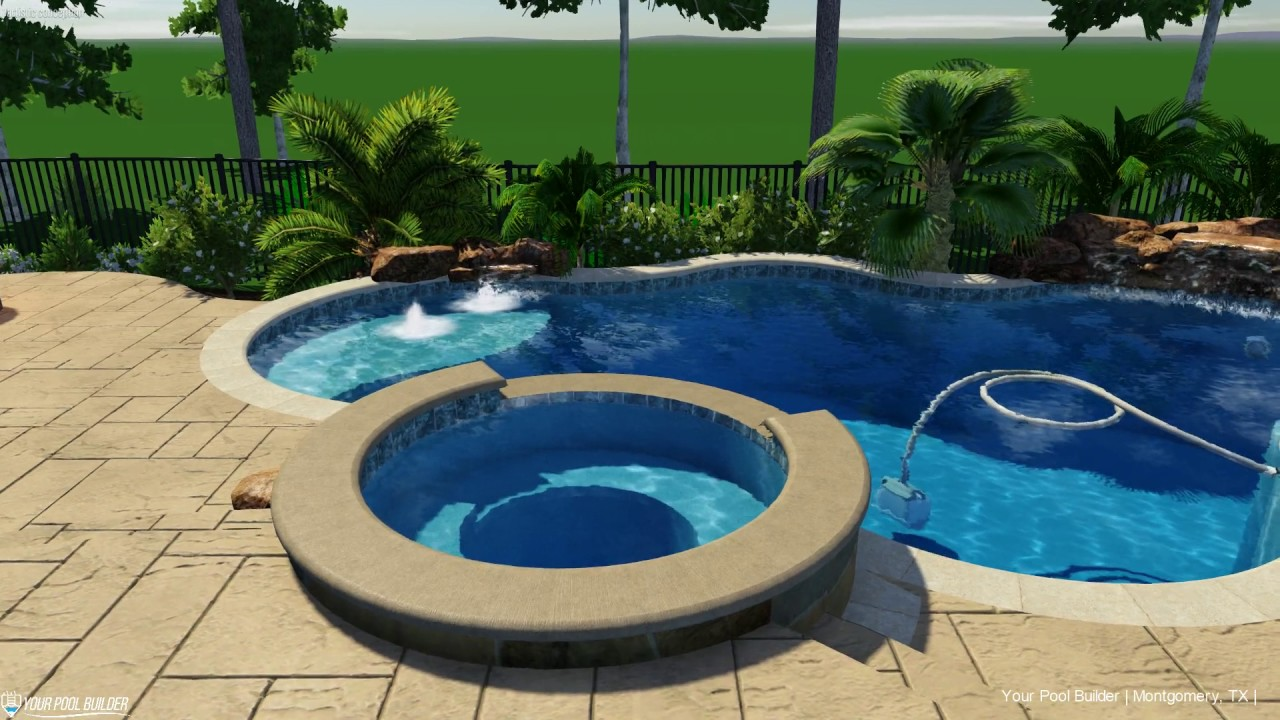 3D Pool Design Concept | Montgomery, TX | Your Pool Builder of Texas