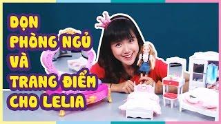 Dọn phòng ngủ và trang điểm cho Lelia | Clean the bedroom and make up for Lelia | Toy Palace