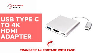 USB Type C to 4K HDMI Adapter with PD Charging