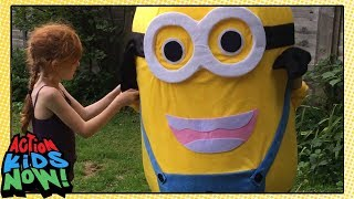 Kids Wear REAL GIANT Minion Costume!