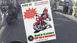 Manifestation FFMC restriction de circulation 14/10/17