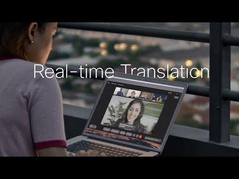 Cisco Webex Real-time translation