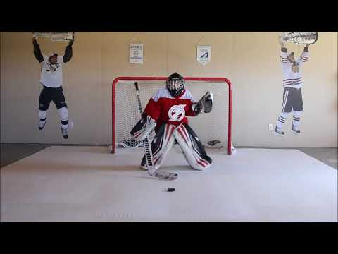 Skate Anytime Synthetic Ice-Goalie circuit training