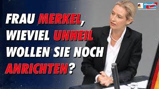 Alice Weidel rechnet knallhart mit 15 Jahren Merkel ab
