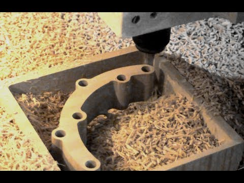 Highspeed 2D CNC Bearbeitung von MDF / CNC Fräsen HSC