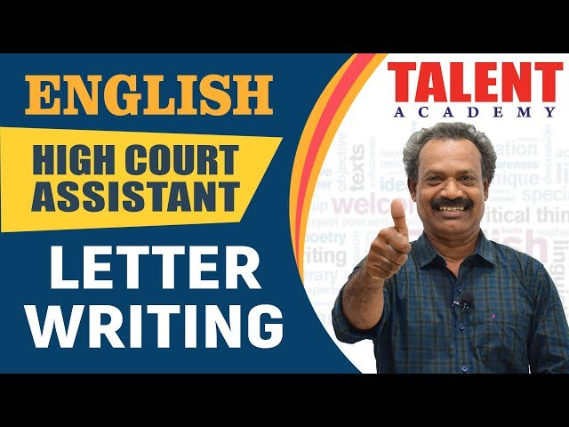Kerala PSC English Descriptive for High Court Assistant Exam 2018 | Letter Writing | Part 1