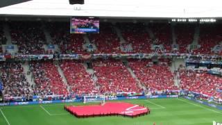 UEFA EURO 2016 - Wales Slovakia - Welsh National Anthem!!!