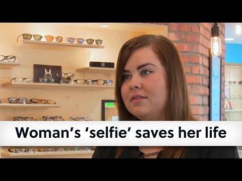 Woman's 'selfie' saves her life