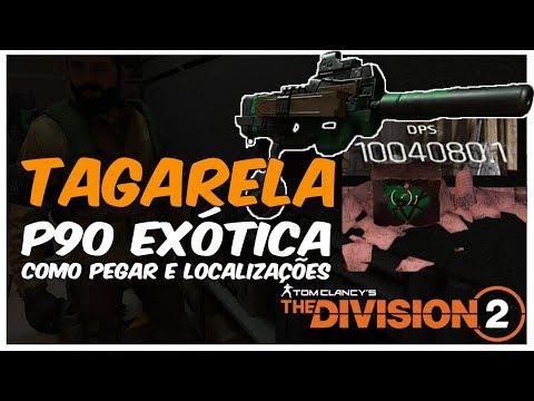 """""""Tagarela"""" P90 Exótica: Como pegar, localização de chaves e baús - The Division 2"""