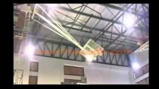 Ceiling Single Drop Basketball Backstop