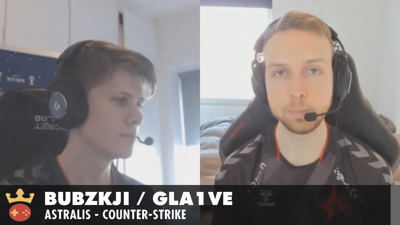 Video of Interview with Bubzkji and gla1ve from Astralis at IEM Katowice 2021