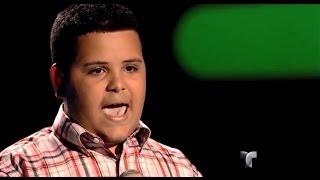 """Christian canta """"La quiero a morir"""" en """"La Voz Kids"""""""