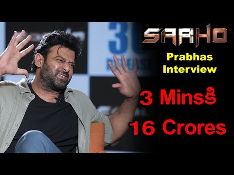 Prabhas About Budget And Producers Of Saaho