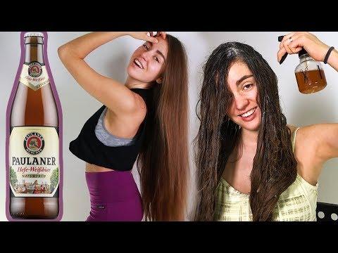 МАСКА ДЛЯ ВОЛОС ИЗ ПИВА 🍺 При чрезмерном употреблении укрепляет волосы 🌴 POLI NA PALME