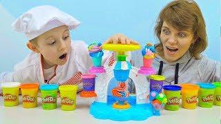 МОРОЖЕНОЕ Play Doh и Даник - Весёлое видео для детей ПЛЕЙ ДО КУХНЯ