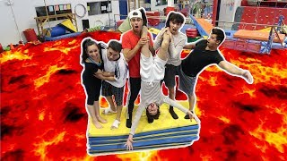 FLOOR IS LAVA AT GYMNASTICS GYM! (INTENSE)
