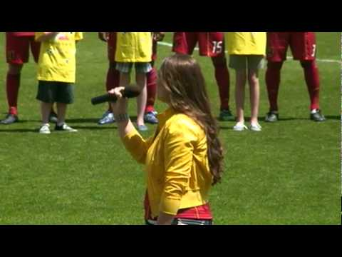 Monica Ririe - National Anthem at Rio Tinto