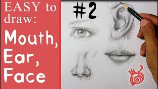 Easy Drawing Tutorial Of Eye And Mouth - Pencil Sketch Lesson #2- រៀនគំនូរ ពី JekDrawingTips