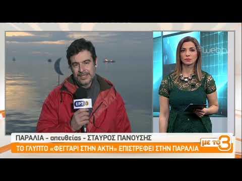 """Το γλυπτό """"Φεγγάρι στην ακτή"""" επιστρέφει στην παραλία της Θεσσαλονίκης    18/01/2019   ΕΡΤ"""