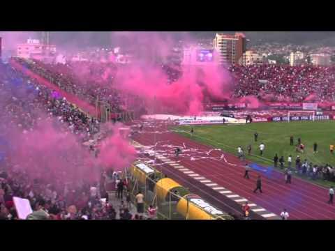 """Wilstermann recibimiento Copa Libertadores"" Barra: Gurkas • Club: Jorge Wilstermann"