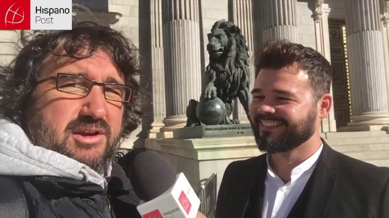 Entrevista al polémico diputado español Gabriel Rufián