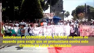 preview picture of video 'Marcha en PUEBLA por NORMALISTAS de AYOTZINAPA'