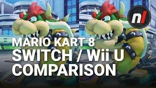 Mario Kart 8 Deluxe Nintendo Switch / Wii U Graphical Comparison