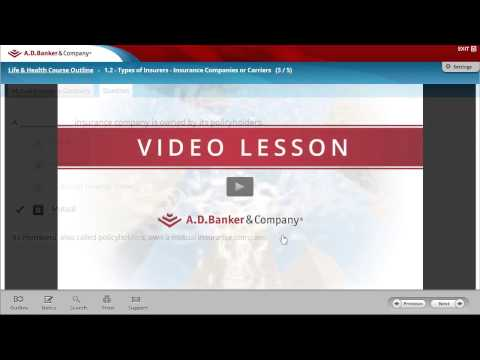 Life & Health Insurance Licensing Online Course Tutorial - YouTube