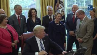 President Trump Signs a Bill that has Workers and Americans Cheering!!!