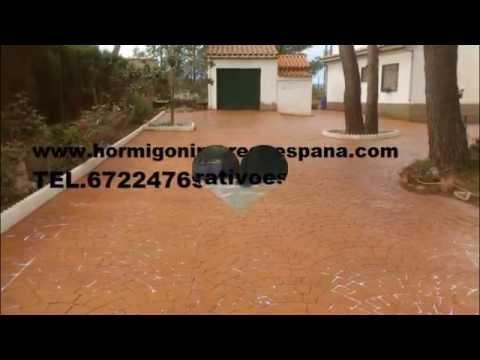 HORMIGON IMPRESO SAN JUAN DE ENOVA 672247692 VALENCIA