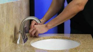 "Installing a Pfister 4"" Centerset Bathroom Faucet with a Push & Seal Drain - Selia Collection"