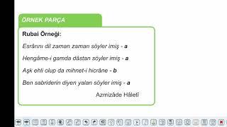 Eğitim Vadisi AYT Edebiyat 10.Föy Divan Edebiyatı Nazım Biçimleri ve Türleri Konu Anlatım Videoları