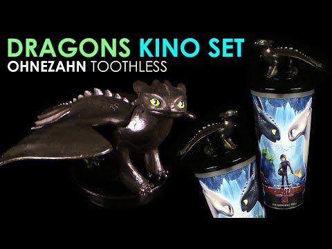Dragons 3 - Kino Set - Ohnezahn / Toothless - Merchandise Figur zum Film