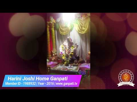 Harini Joshi Home Ganpati Decoration Video