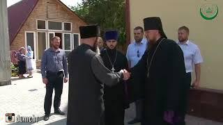 Муфтий ЧР Шейх Салахь Межиев встретился с настоятелем храма Архангела Михаила иереем Сергием