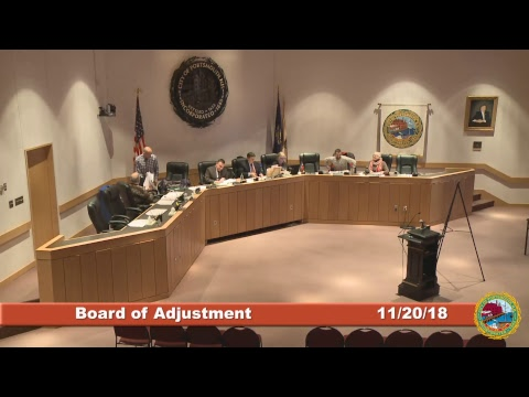 Board of Adjustment 11.20.2018